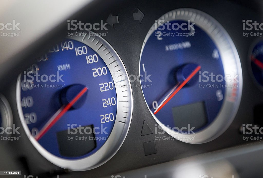 modern car instrument panel royalty-free stock photo