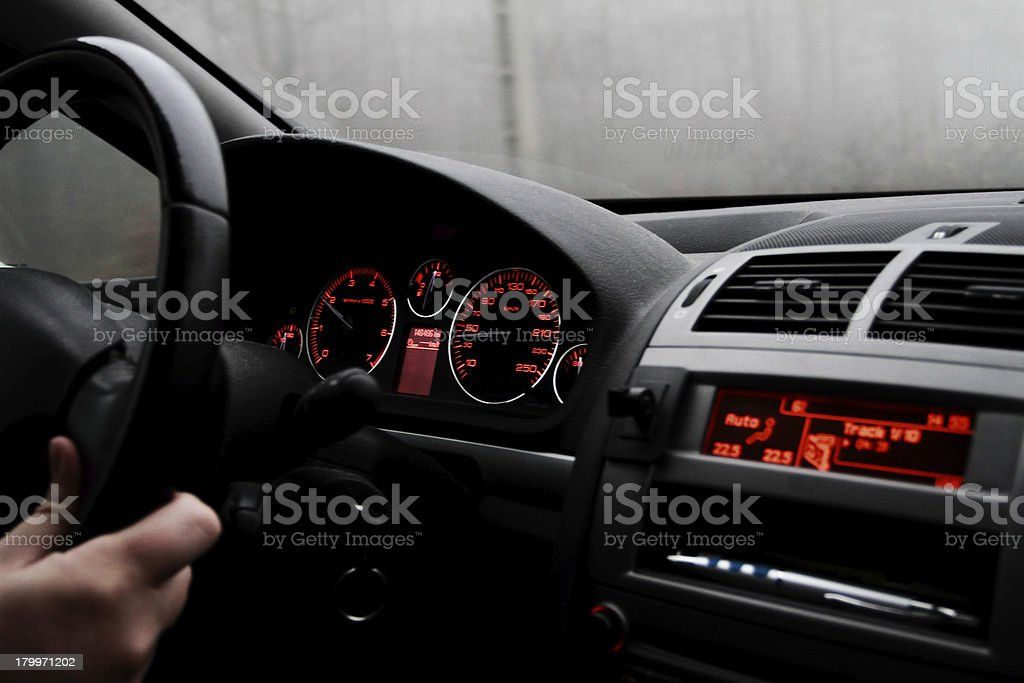 Modern car interior royalty-free stock photo