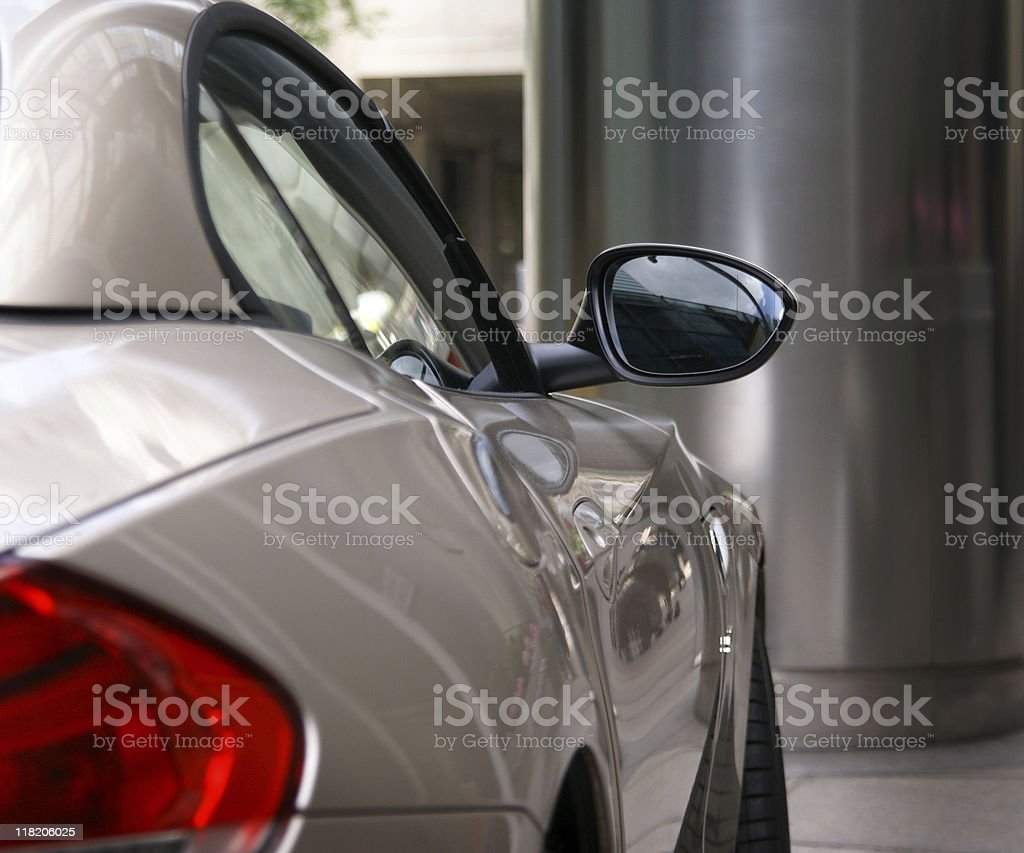 Modern car stock photo