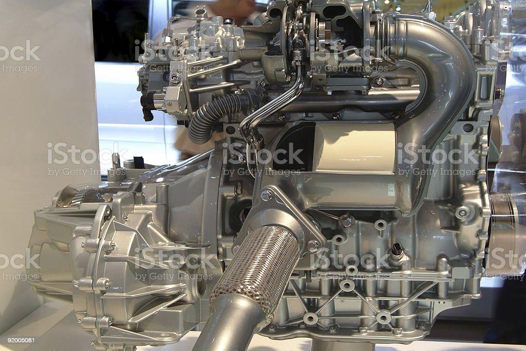 Modern car power engine royalty-free stock photo