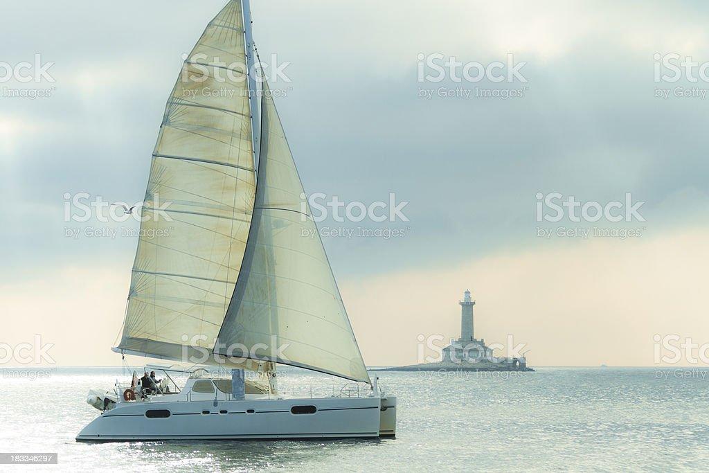 modern carataman sailing stock photo