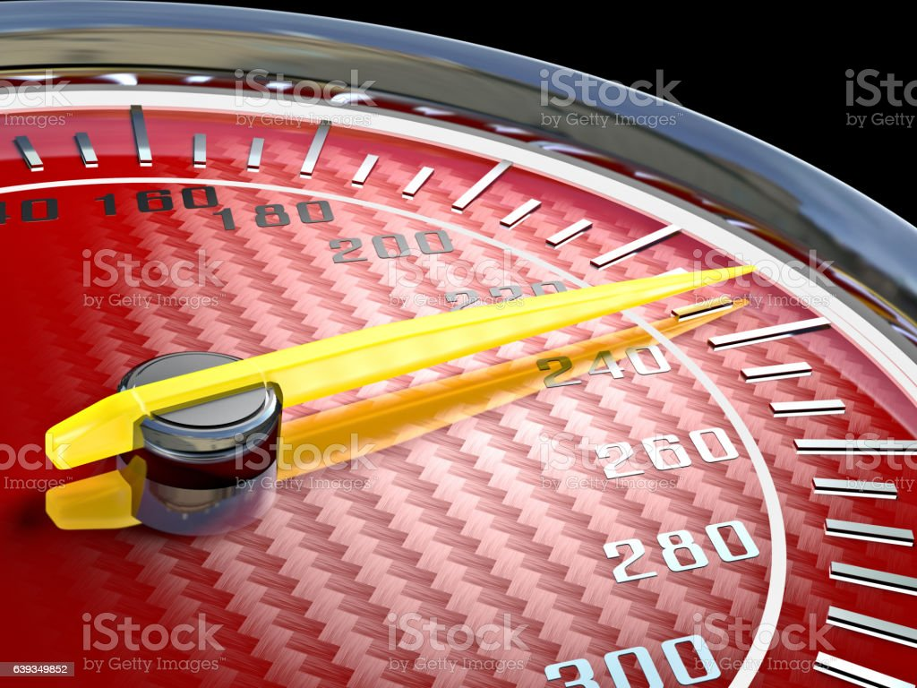 modern carbon speedometer stock photo