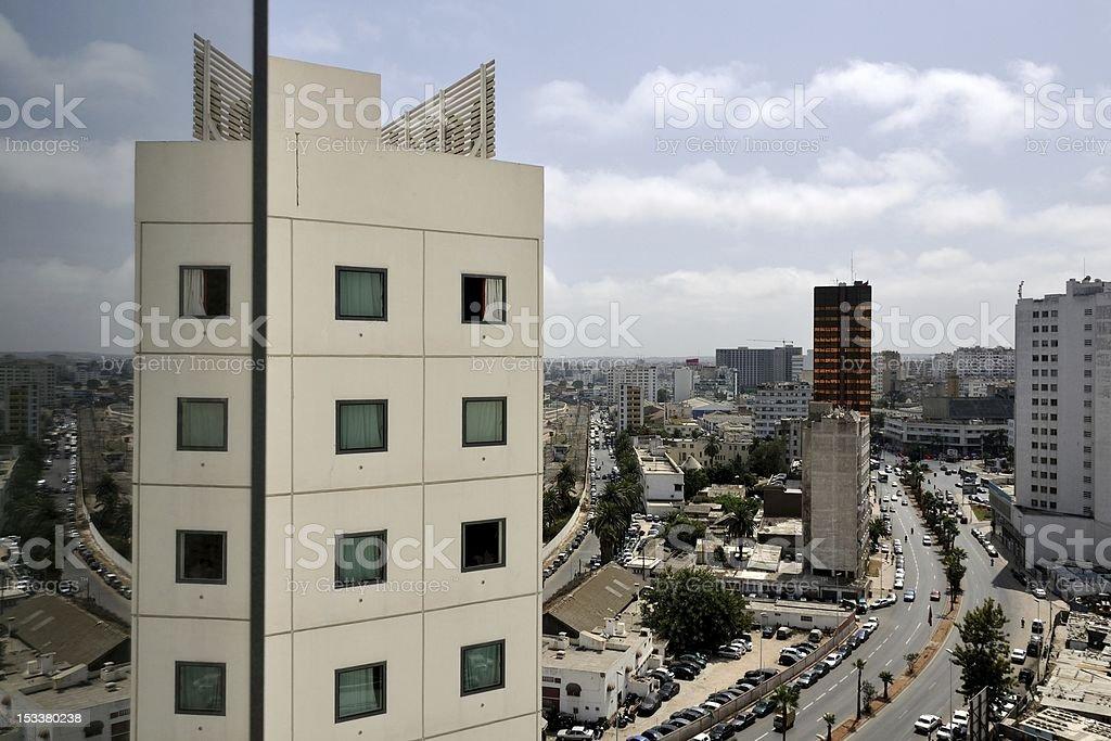 Modern Casablanca City, Morocco stock photo