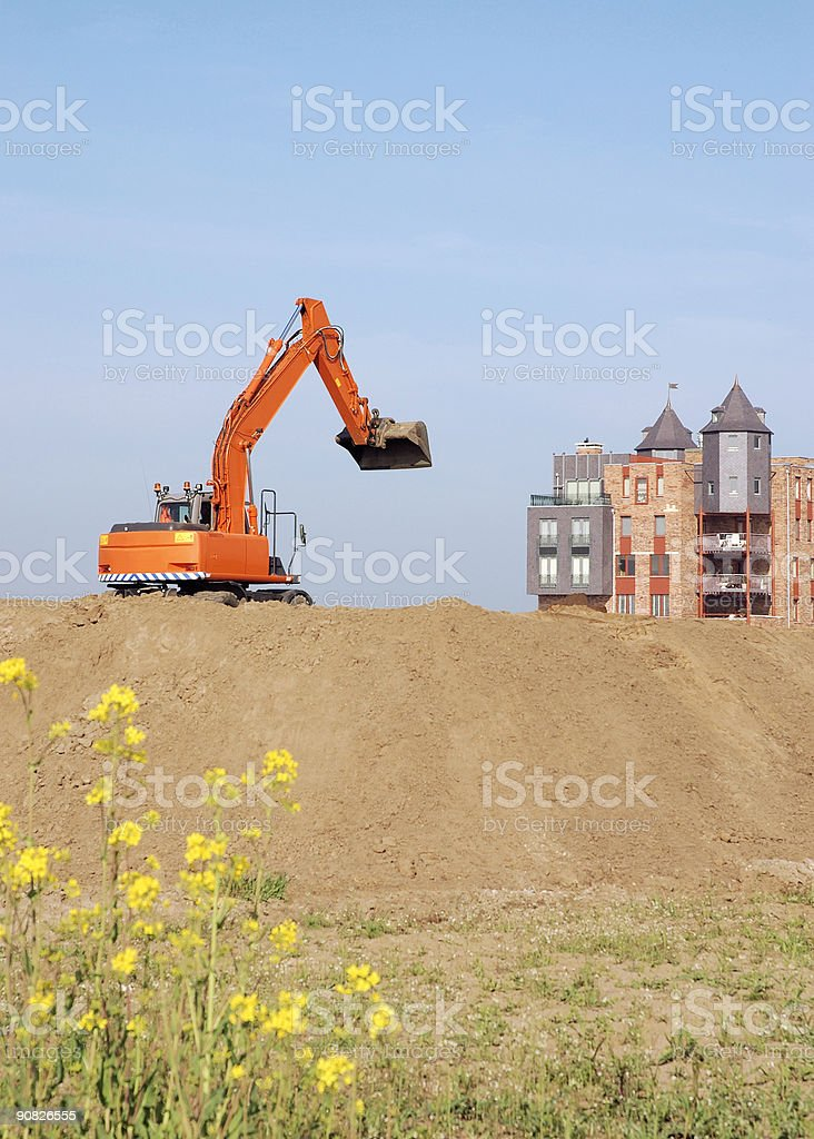 Modern Castle stock photo
