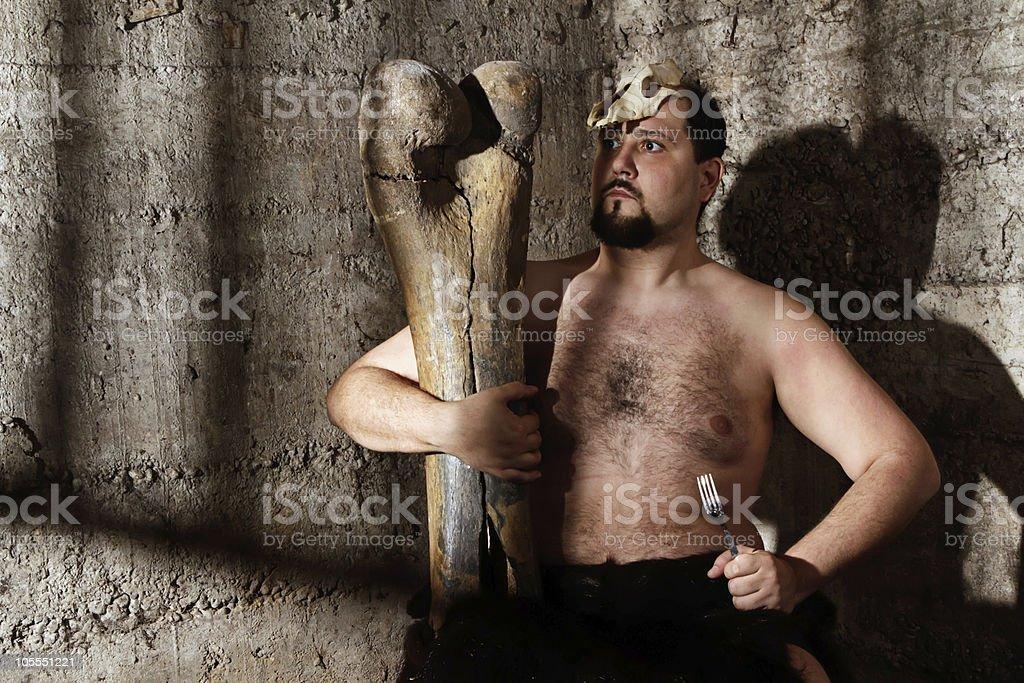 modern caveman stock photo
