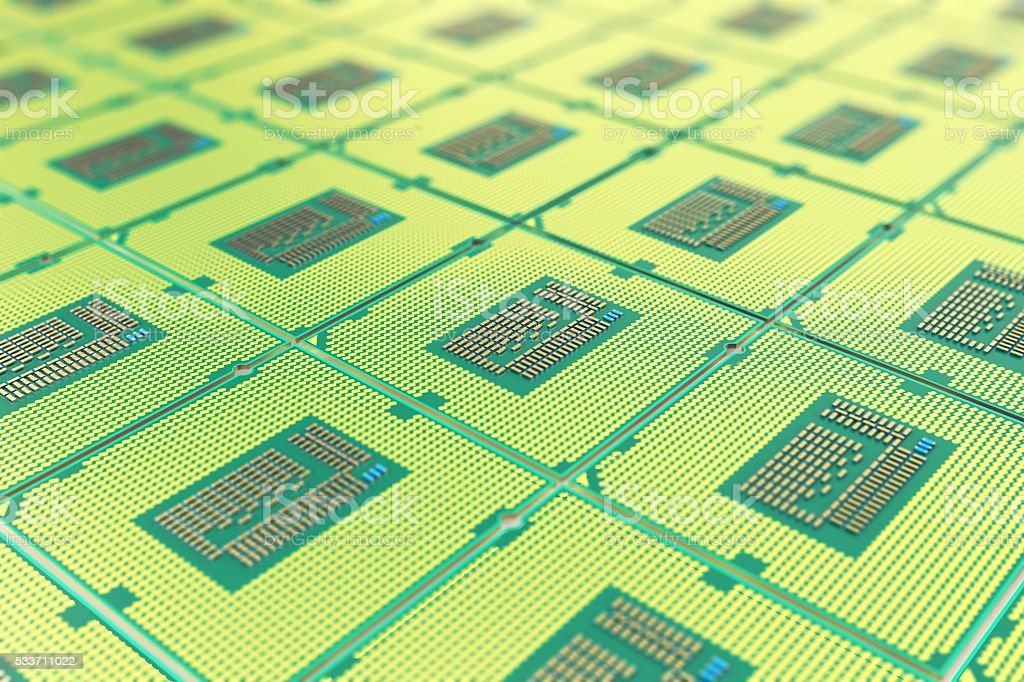 Modern central computer processors CPU, industry concept close-up view stock photo