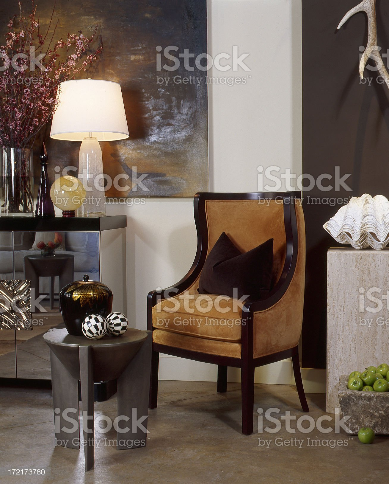 Modern Chair and Furniture royalty-free stock photo