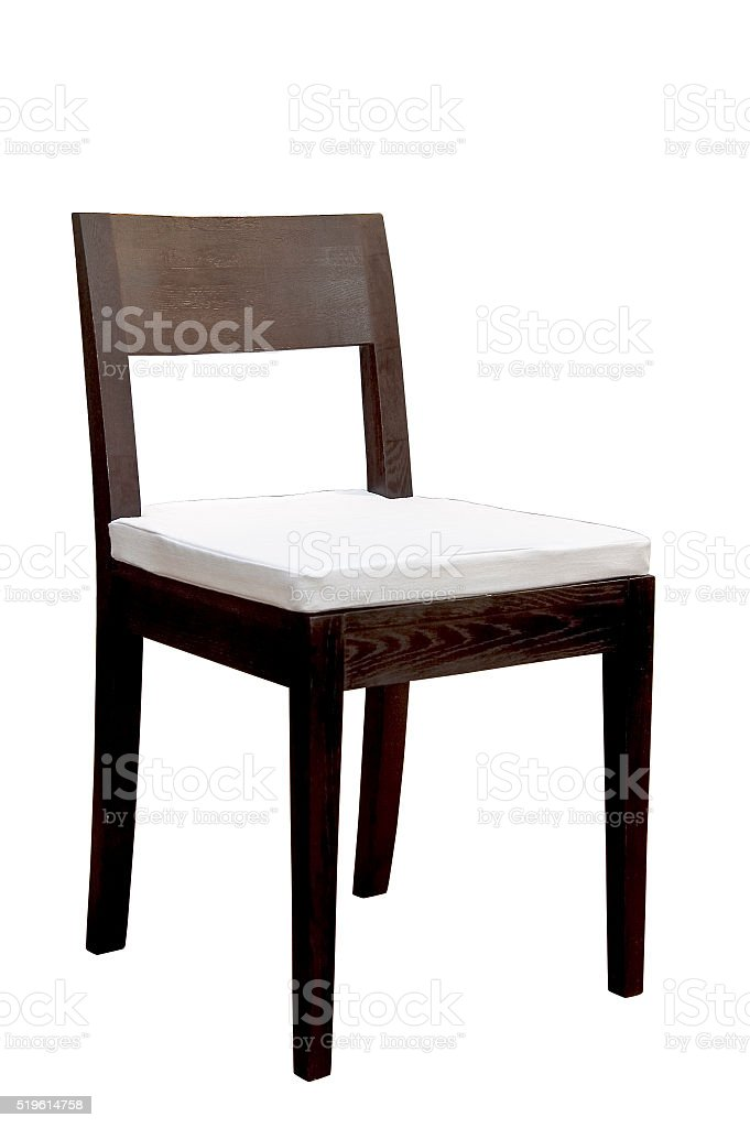 Modern chair isolated stock photo