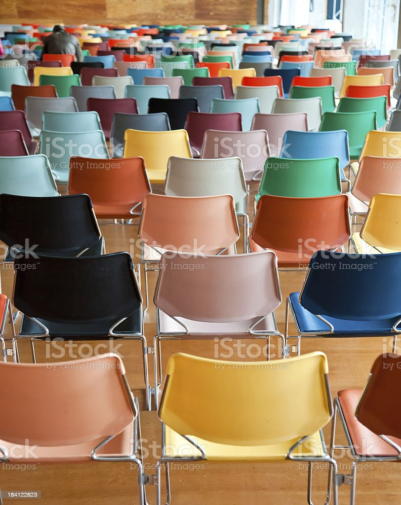 Modern Chairs in Auditorium stock photo