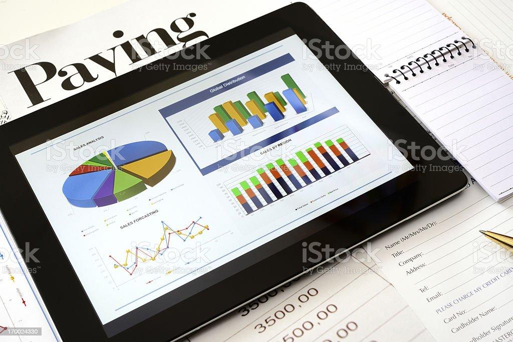 Modern chart background royalty-free stock photo