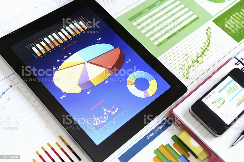 Modern chart background royalty-free stock photo