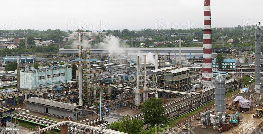 Modern chemical plant. Havy industry royalty-free stock photo