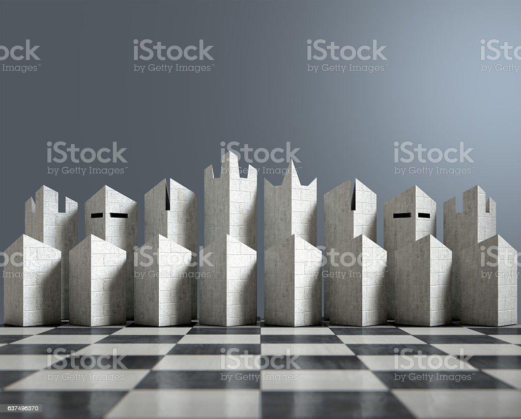 Modern Chess Set stock photo