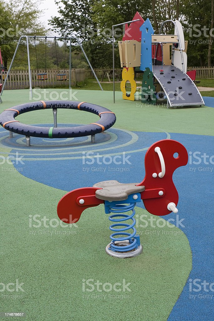 Modern childrens playground stock photo