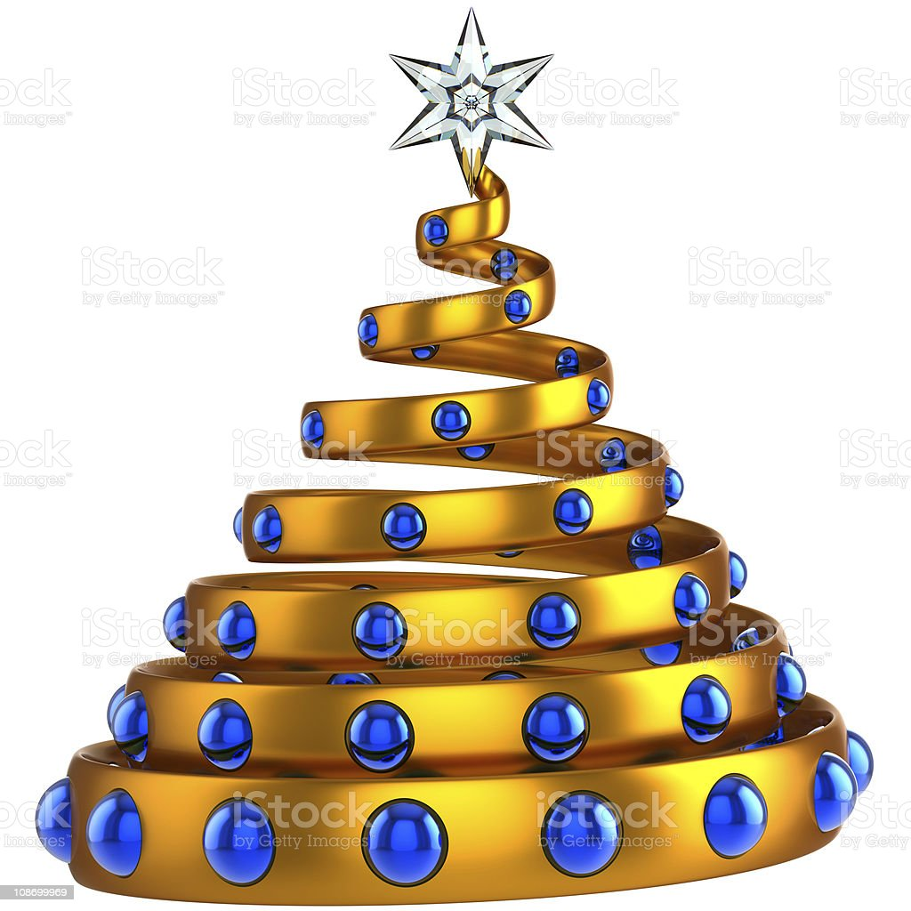 Modern Christmas tree stylized (Hi-Res) royalty-free stock photo