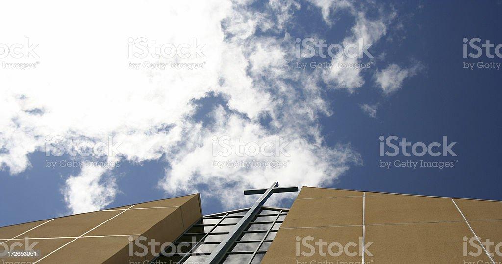 Modern Church Cross royalty-free stock photo