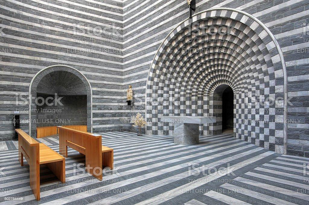 Modern interior of the small Church of Saint Giovanni Battista from...