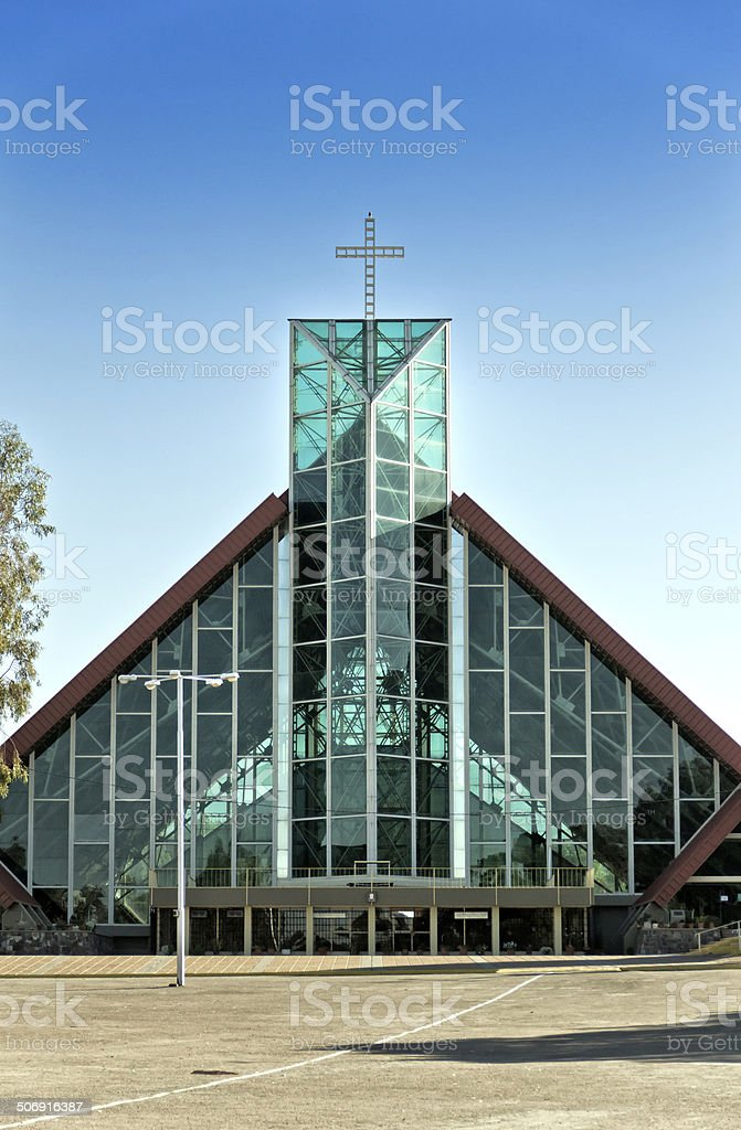 Modern church royalty-free stock photo