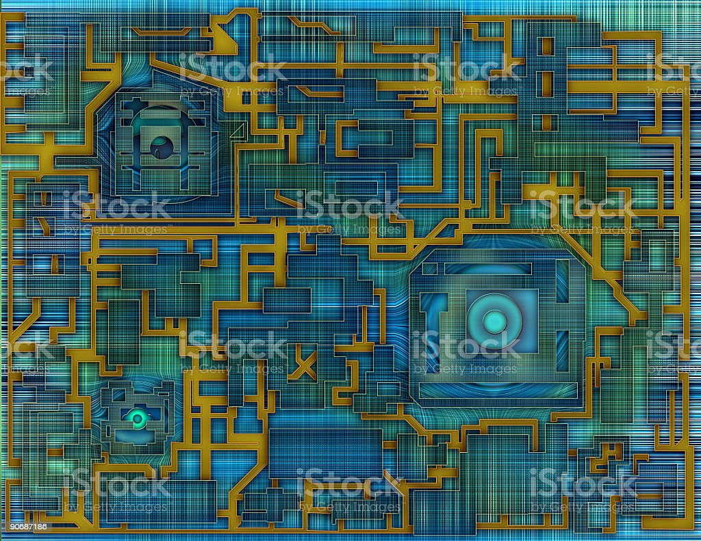 Modern Circuit Board royalty-free stock photo