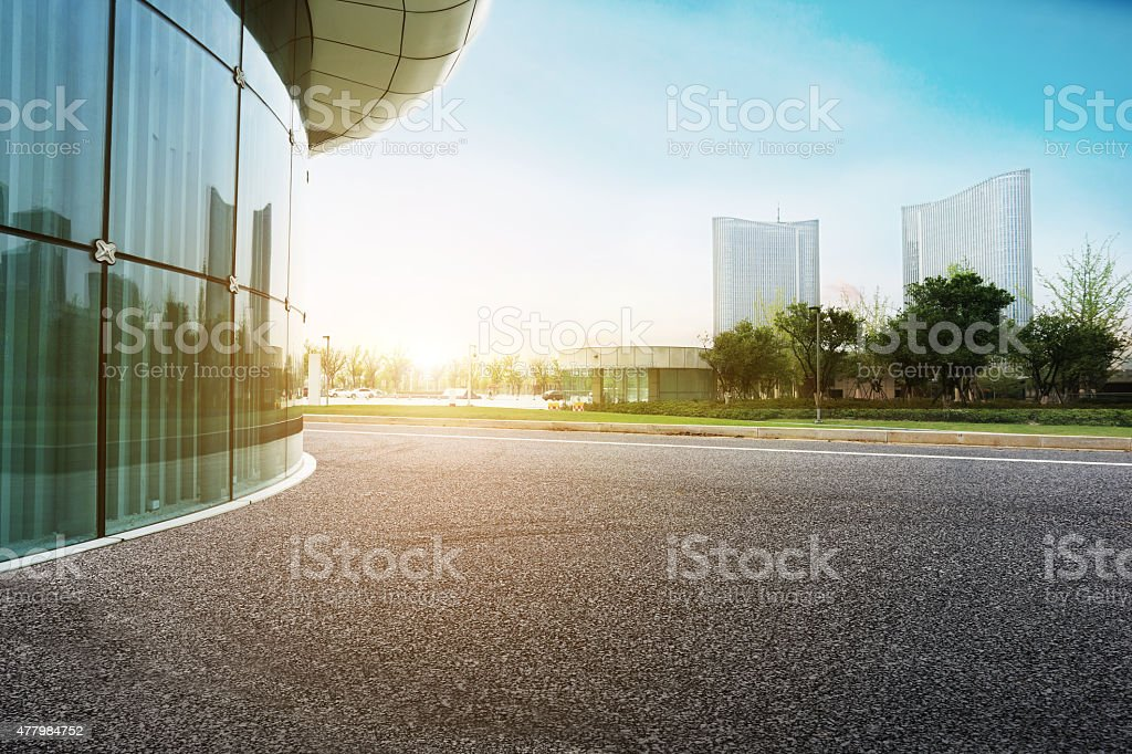 Modern cities and roads stock photo