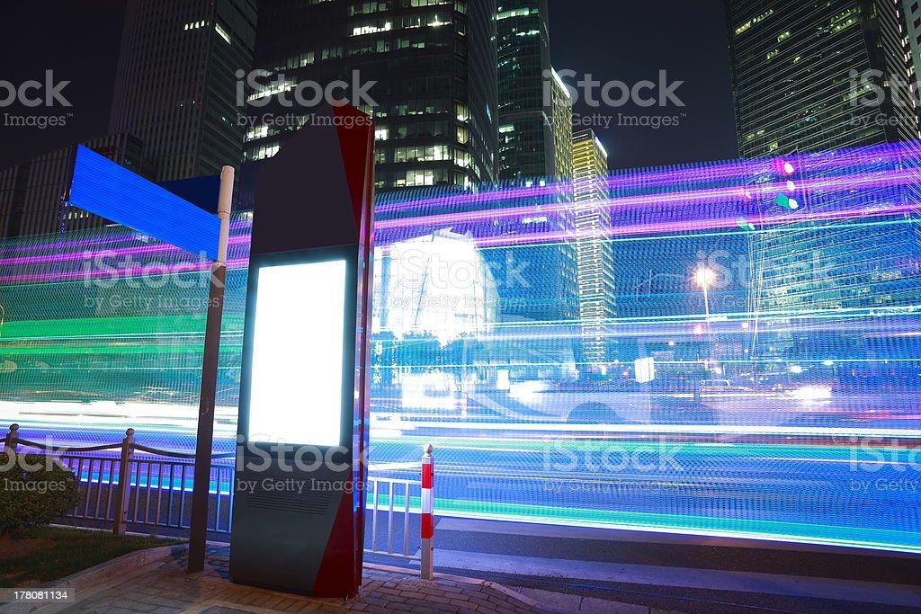 modern city advertising light boxes in Shanghai stock photo