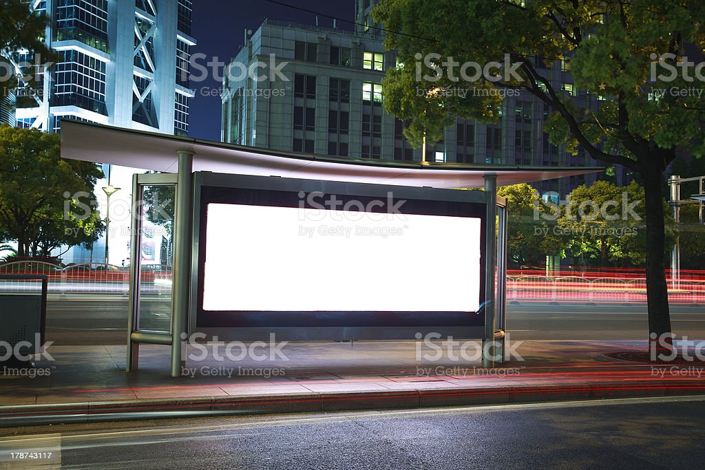 modern city advertising light boxes royalty-free stock photo