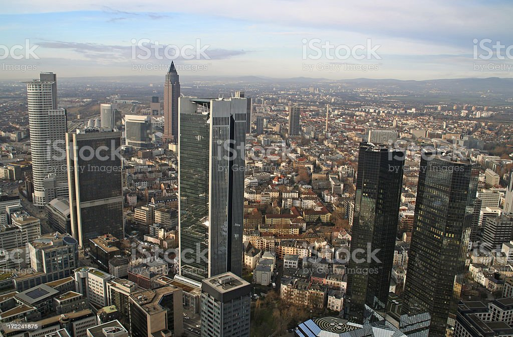 Modern city aerial view II royalty-free stock photo