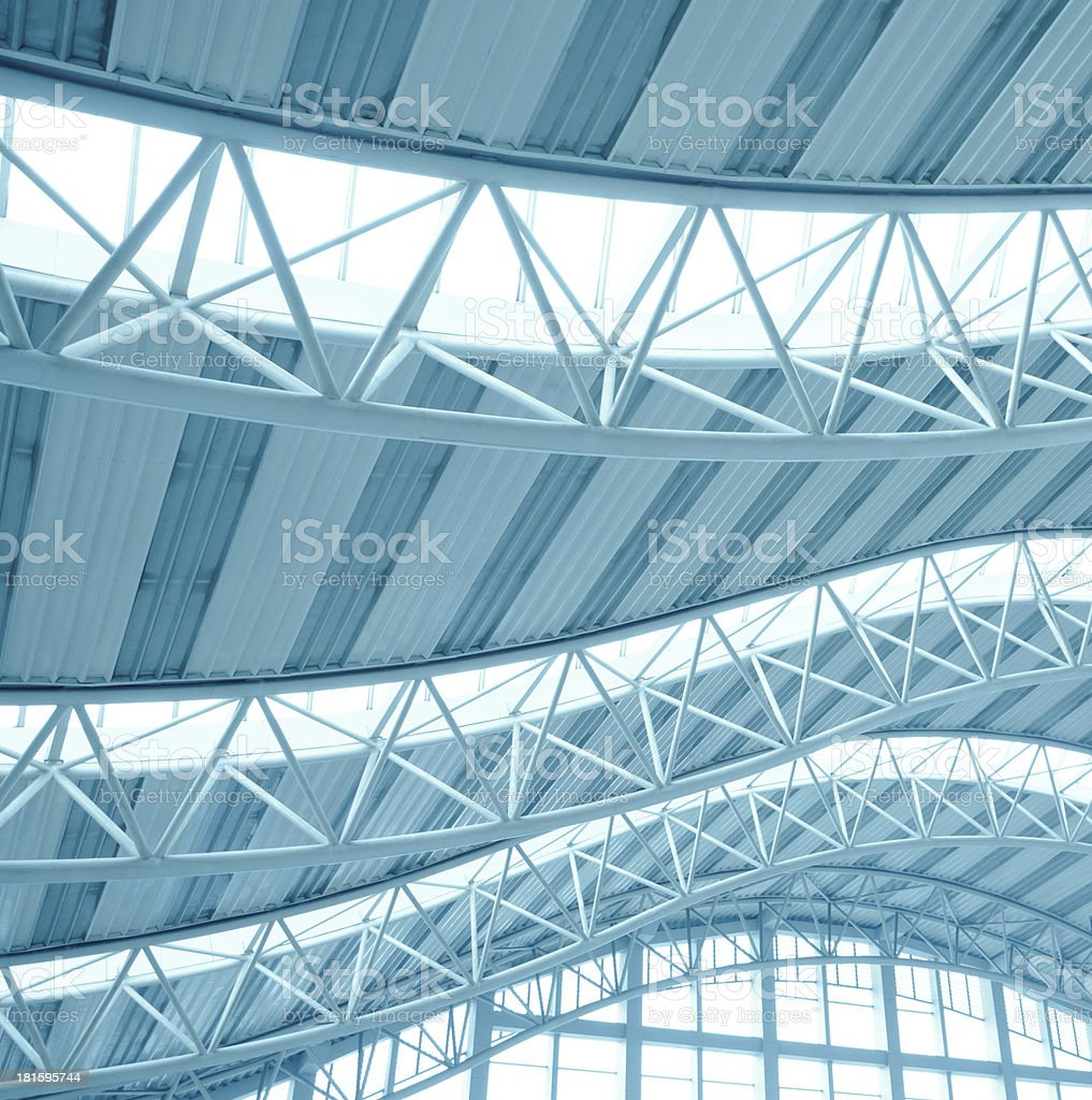 modern city architecture ceiling detail royalty-free stock photo