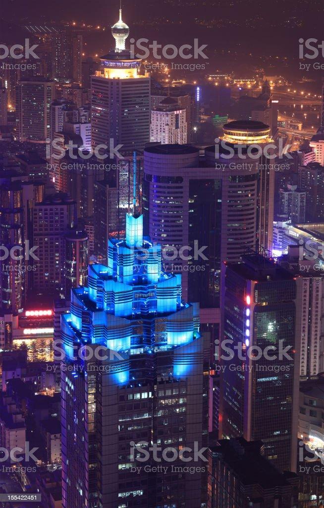 Modern City at Dusk,shenzhen royalty-free stock photo
