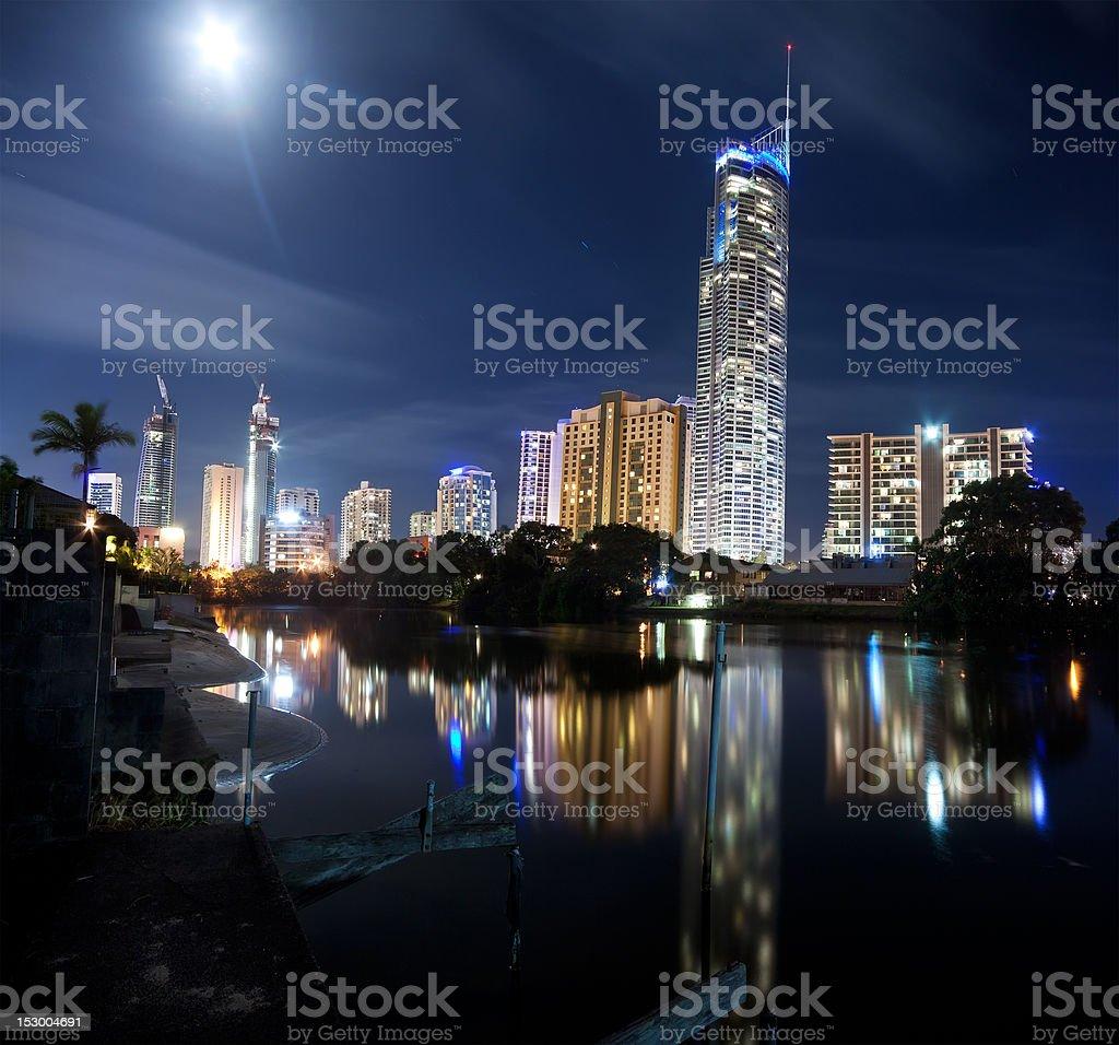 modern city at night royalty-free stock photo