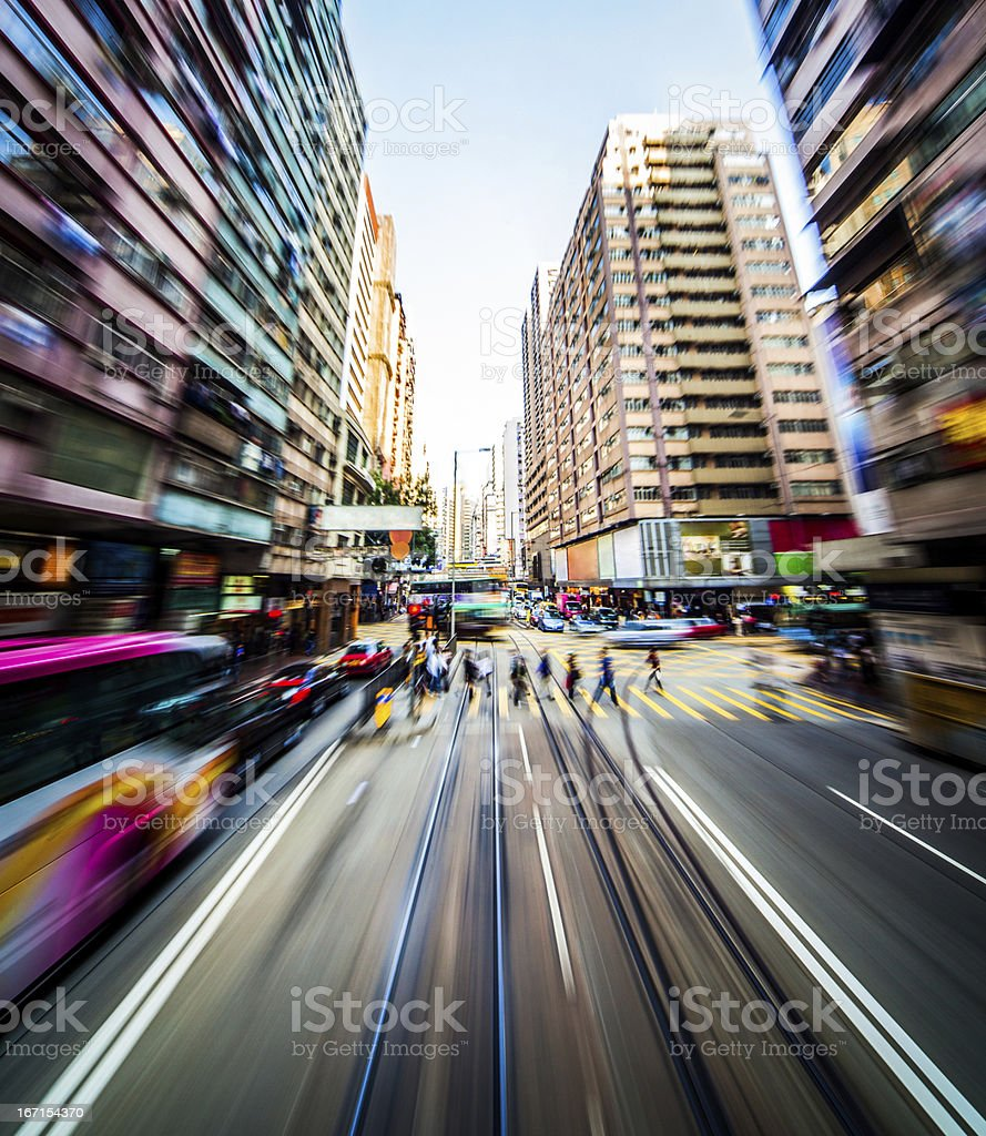Modern city blur stock photo