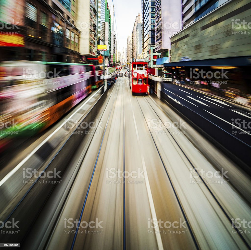 Modern city blur royalty-free stock photo