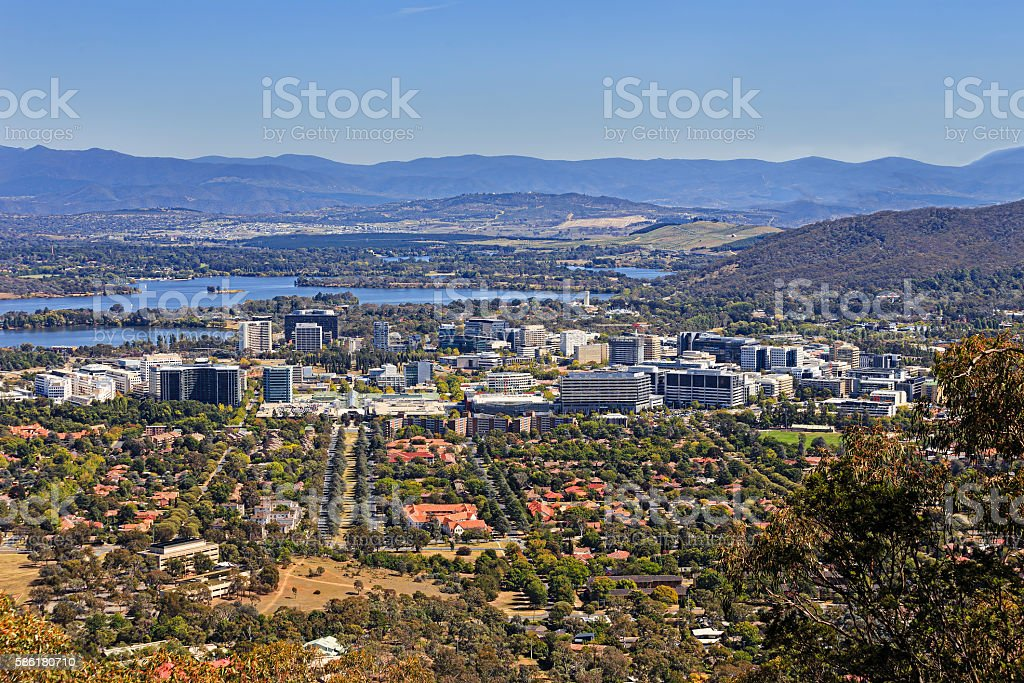 CAN modern city centre Mt Ainslie stock photo