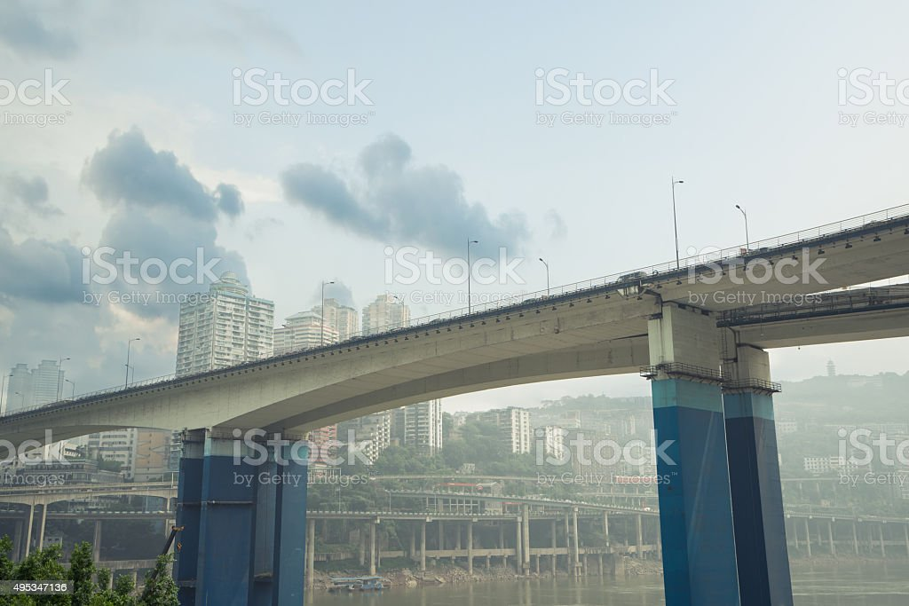 modern city construction and Bridges stock photo