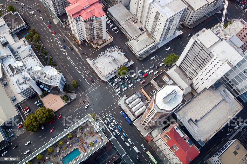 Modern City Crossroad stock photo