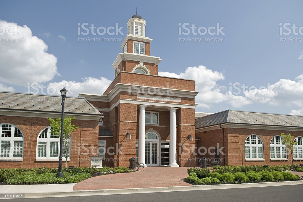 Modern City Hall of Beautiful Small Town royalty-free stock photo