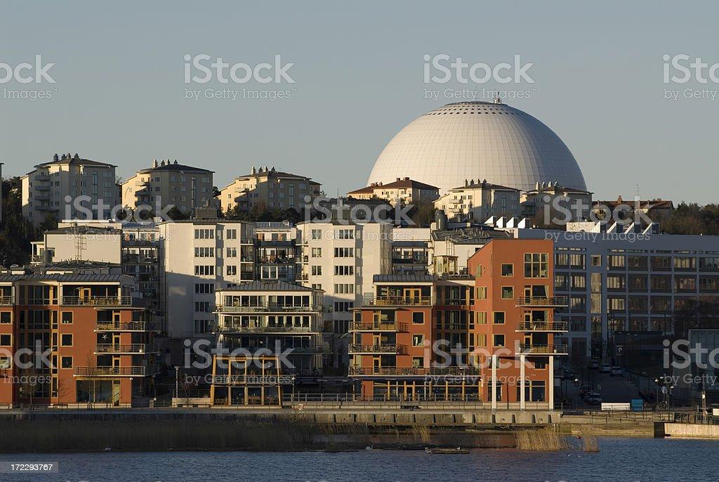 Modern city, hor royalty-free stock photo