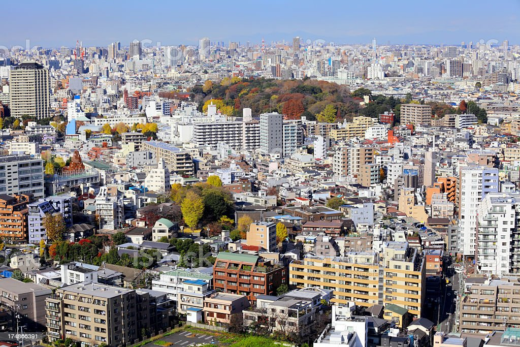 modern city in japan, tokyo royalty-free stock photo