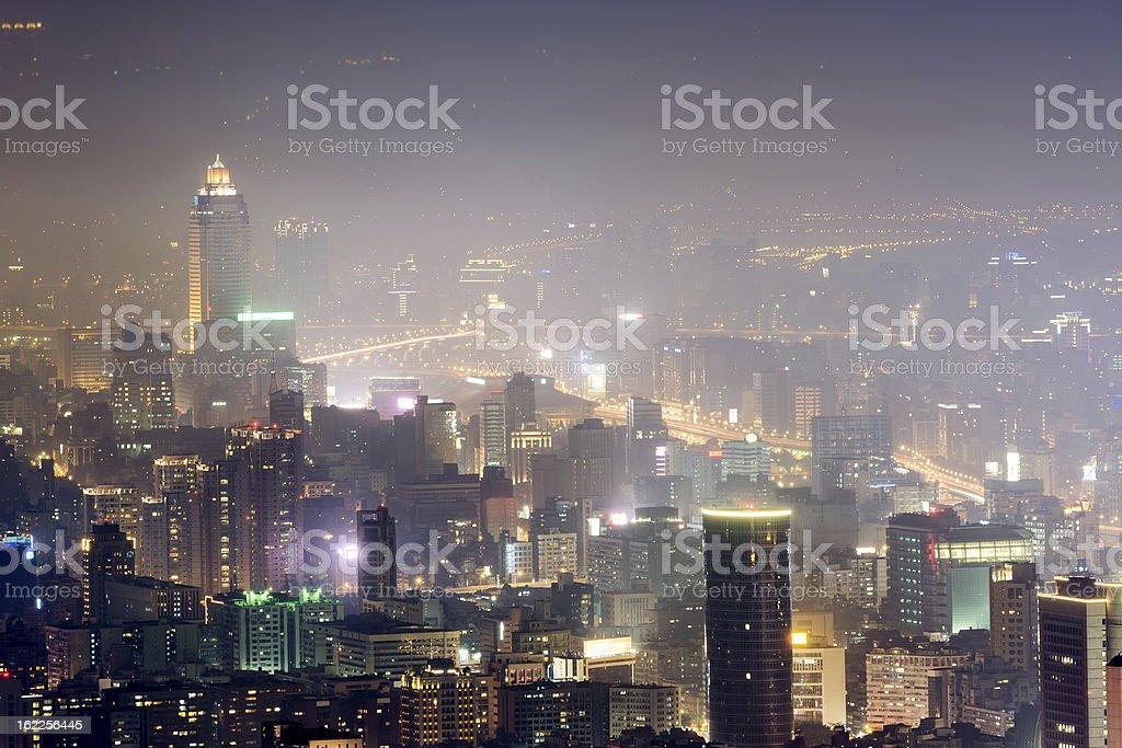 Modern city night royalty-free stock photo