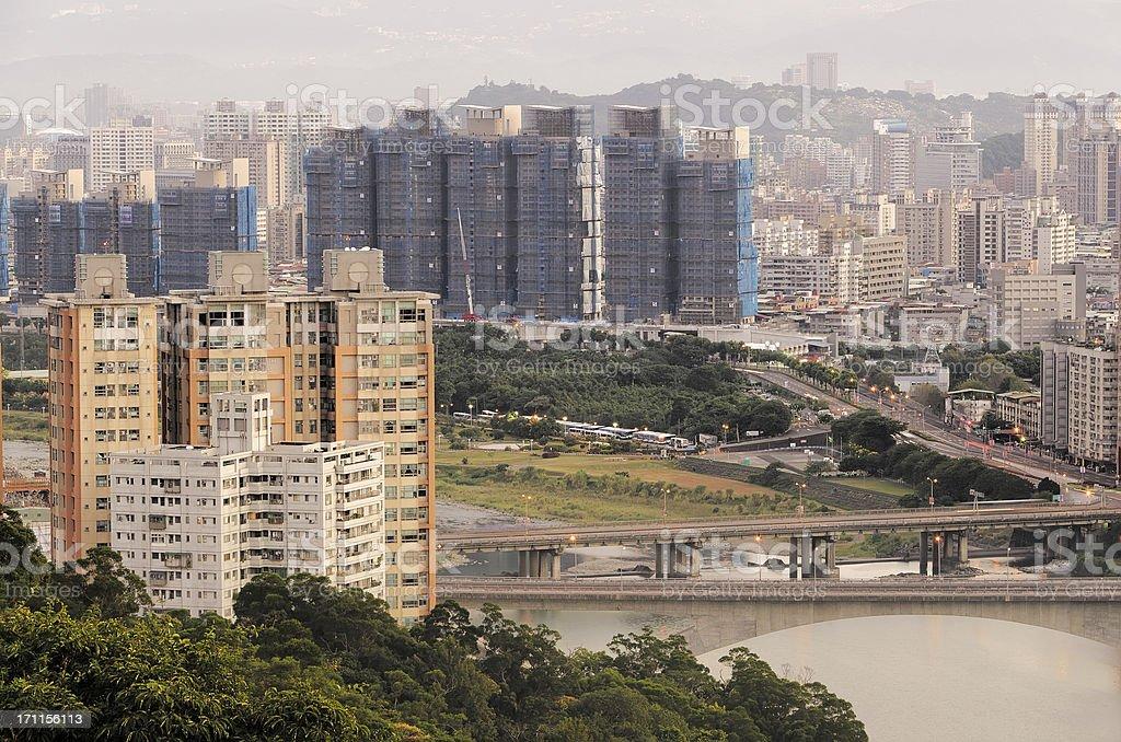 Modern city scenery royalty-free stock photo