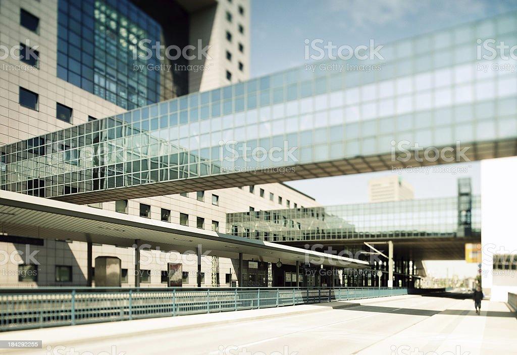 Modern City Station stock photo