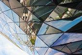 Modern city urban futuristic architecture reflection