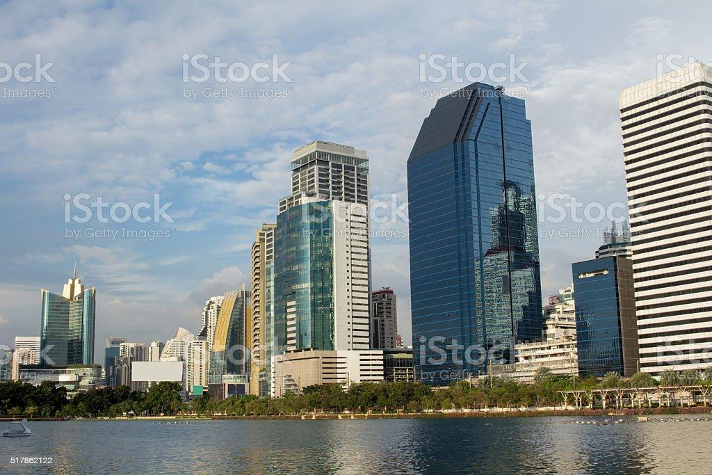 Modern city view of Bangkok, Thailand. stock photo