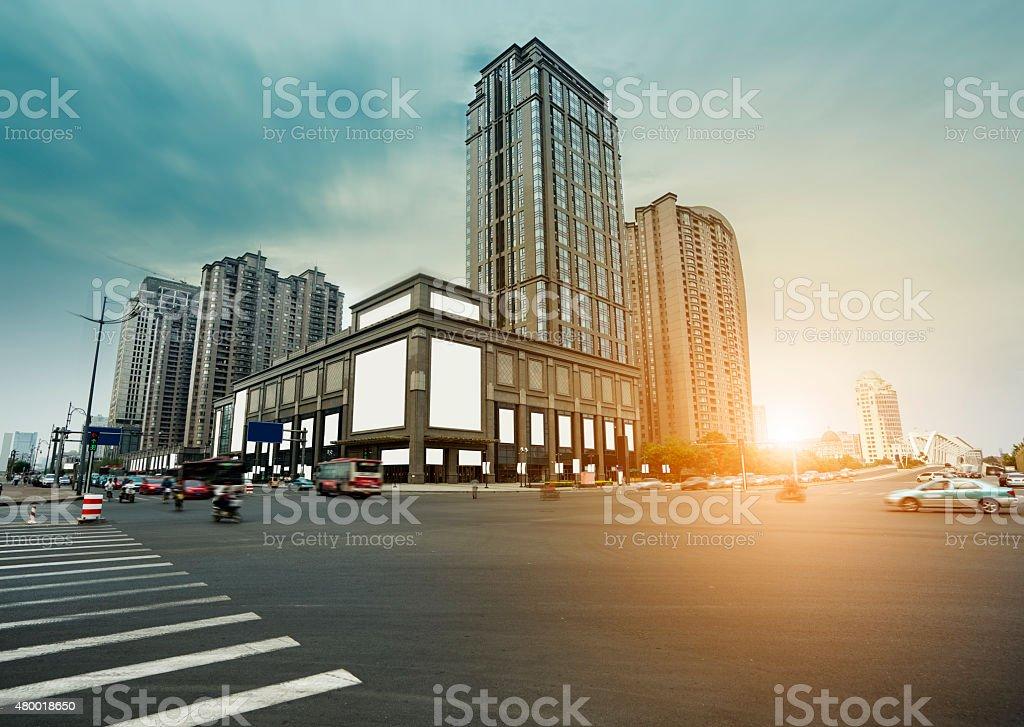modern city's financial district stock photo