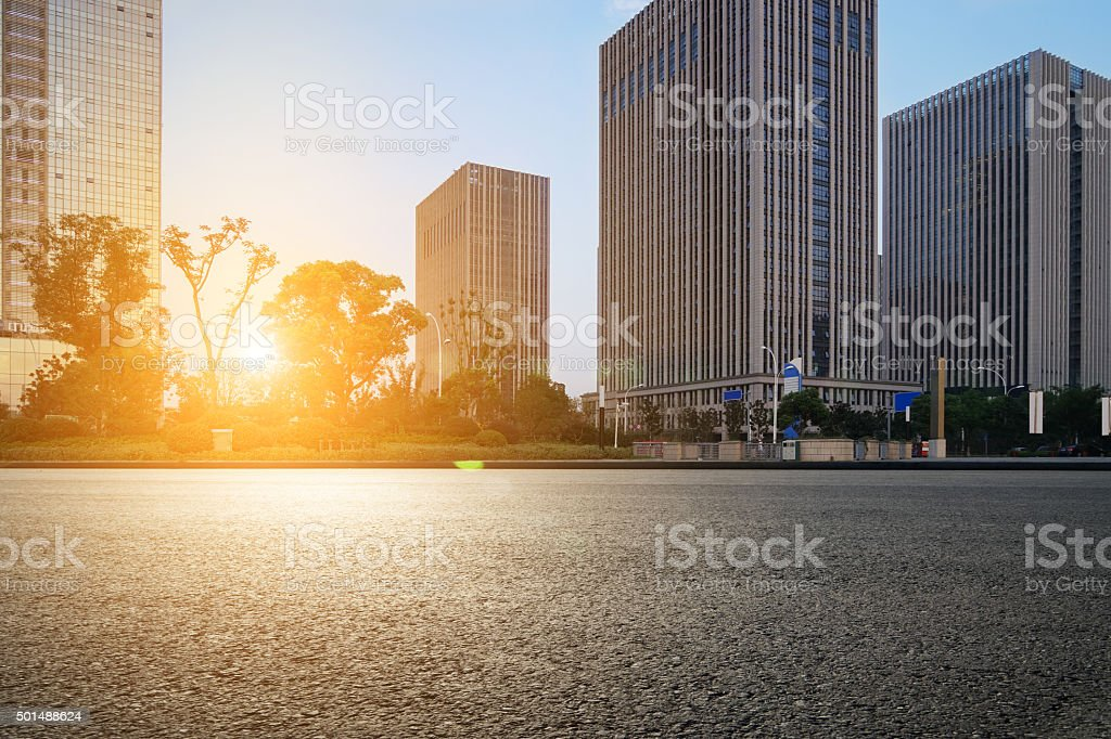 modern city's financial district stock photo