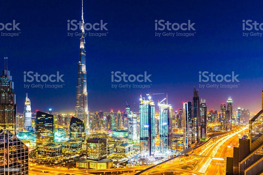 Modern Cityscape of Dubai, United Arab Emirates stock photo