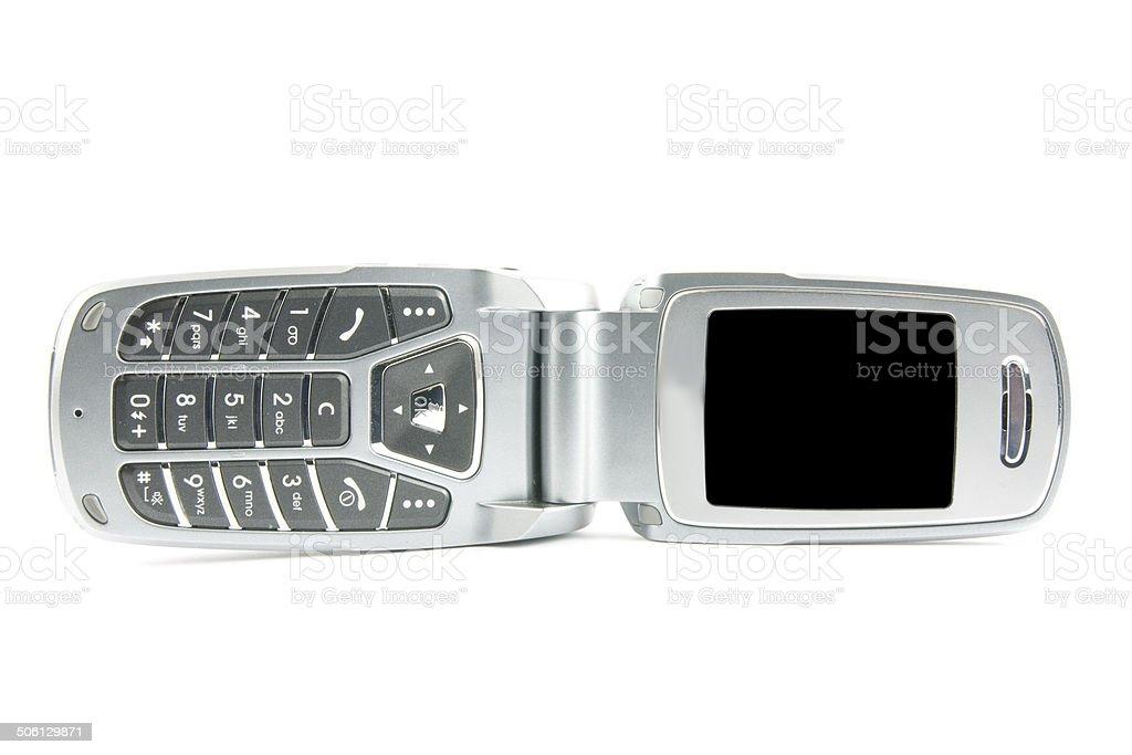 Modern clamshell phone stock photo