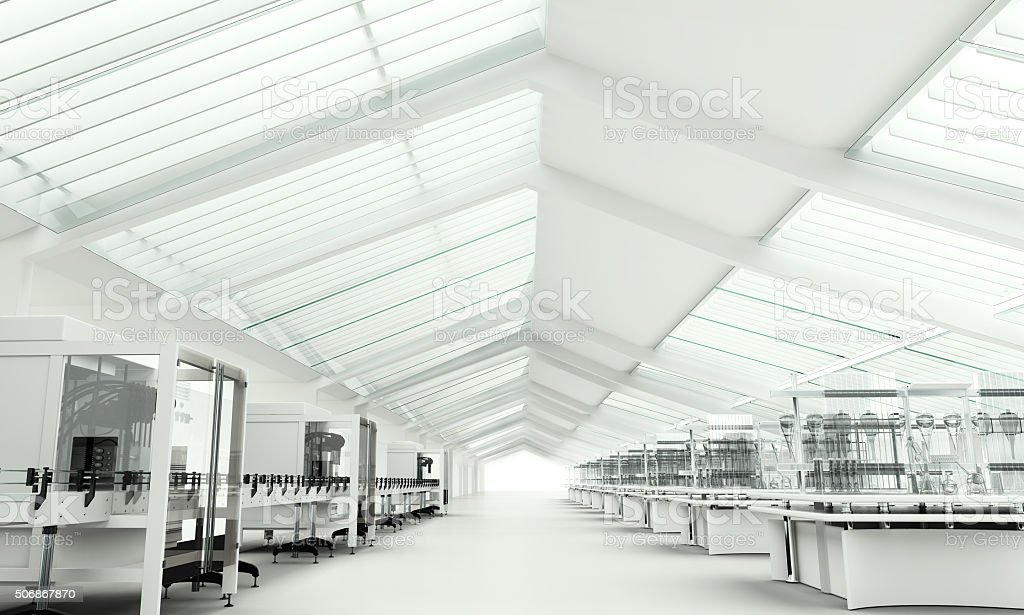 Modern clean research laboratory stock photo