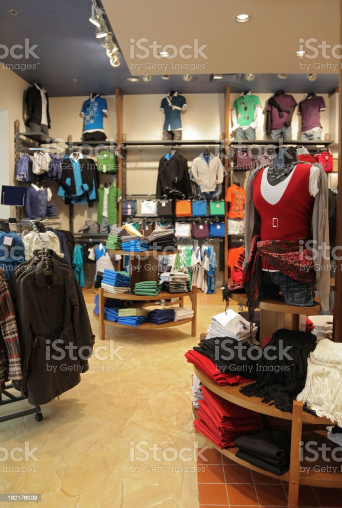 Modern Clothing Store Interior royalty-free stock photo