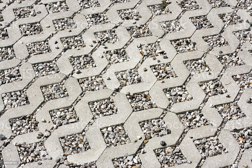 Modern cobblestone royalty-free stock photo